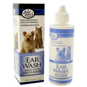 FOUR-PAWS-DOG-CAT-SOOTHING-COOLING-ANTI-ITCH-EAR-WASH-CLEANS-EARS-118ML-01734