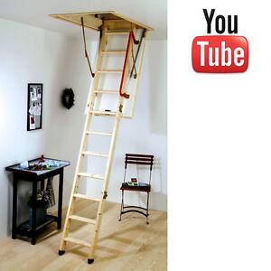 Details About Youngman Eco S Line Loft Ladder Timber Wooden Folding Loft Ladder New