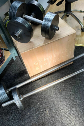 Dumbbell Bars for Gymbeing MULTI-ADJUSTABLE weight plates