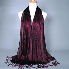 New Women Lady Muslim Tassel Glitter Long Hijab Scarf Shawl Wrap Pashmina  5524