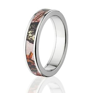 Details About Camo Rings Womens Camo Wedding Bands Licensed Mossy Oak Pink Break Up Rings