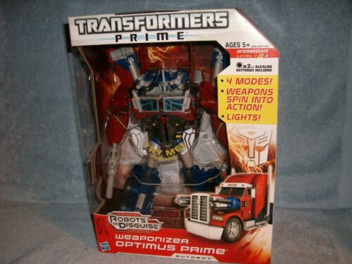 "Weaponizer Optimus Prime RID Transformers Prime 10/"" Tall Hasbro 2011 New Sealed"