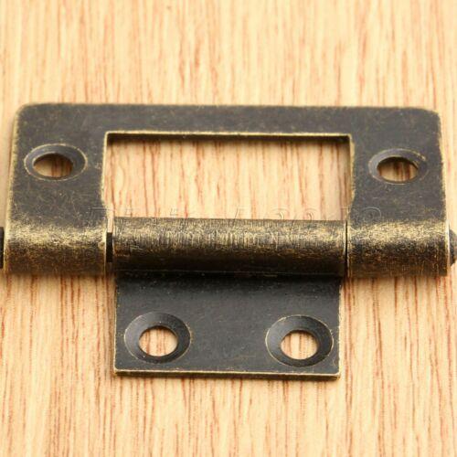 Rétro meubles de charnière de porte armoire placard Boîte à Bijoux Armoire Charnière 38mm*20mm