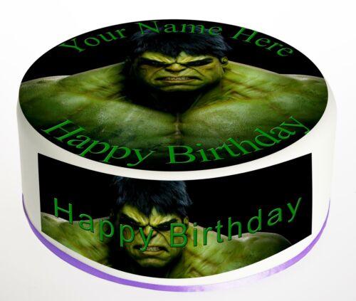 Cake Topper Birthday Incredible Hulk personal Rice paper,Icing fondant Sheet 848