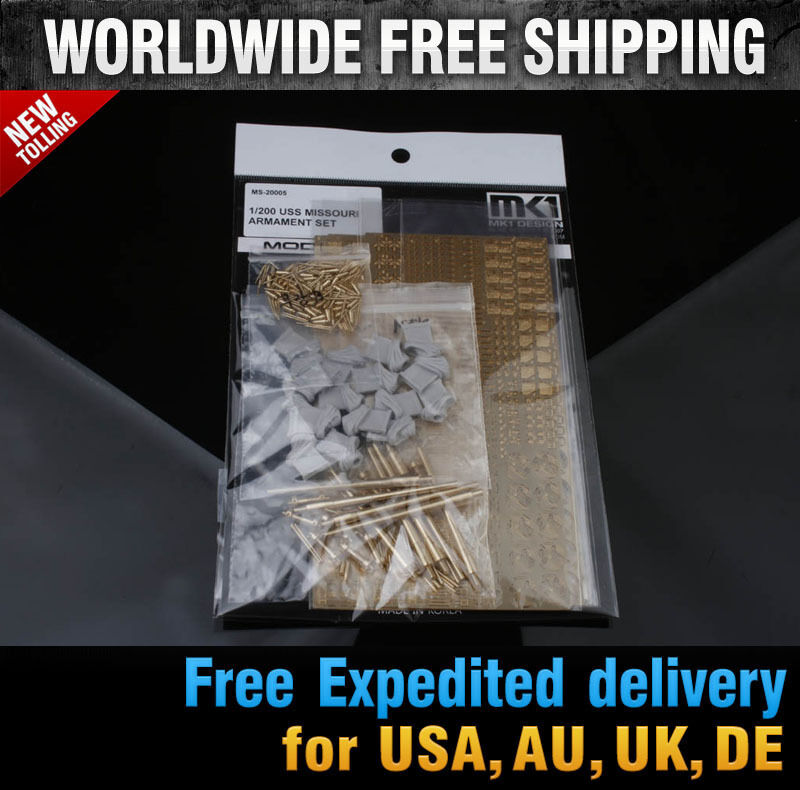 New 1 200 USS MISSOURI ARMAMENT DETAIL-UP SET for Trumpeter  MS20005