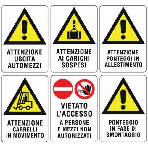 """Cartello per Cantiere di Segnalazione /""""Ponteggio In Fase Di Smontaggio/"""" 50x70 cm"""