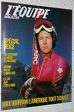EQUIPE MAGAZINE N°221 1984 SPECIAL NEIGE JOHNSON BOXE MOORE DEIULEVEULT S. KELLY