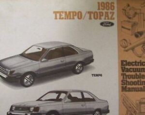 1986 MERCURY TOPAZ Electrical Wiring Diagram Service Shop ...