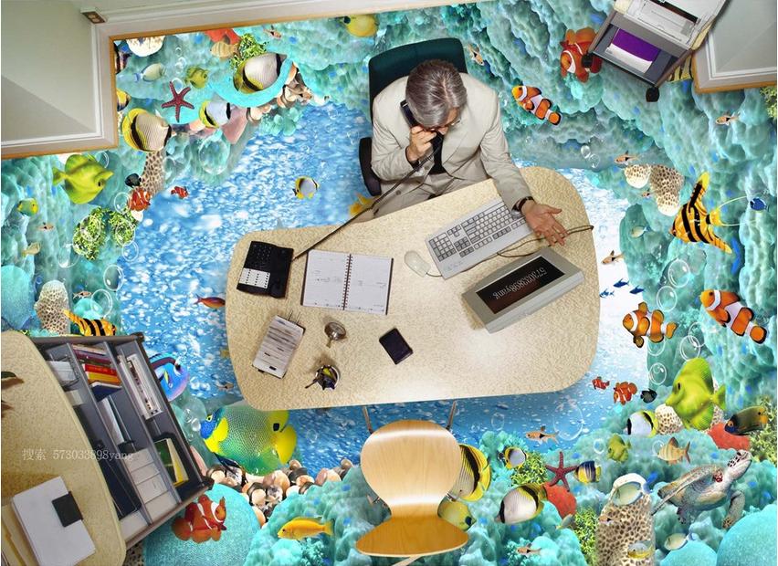 3D Fisch Riff 54 Fototapeten Wandbild Fototapete Tapete Familie DE Lemon