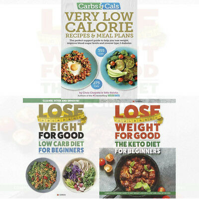 Carbs Cals Very Low Calorie Recipes Meal Plans 3 Books Collection Set New 9789123645558 Ebay