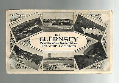 1945 Guernsey Channel Islands Occupation Local Illustrated Holiday Cover
