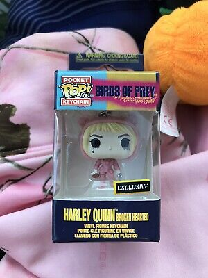 Funko Pop Keychain Harley Quinn Broken Hearted Birds Of Prey Hot Topic Exclusiv Ebay