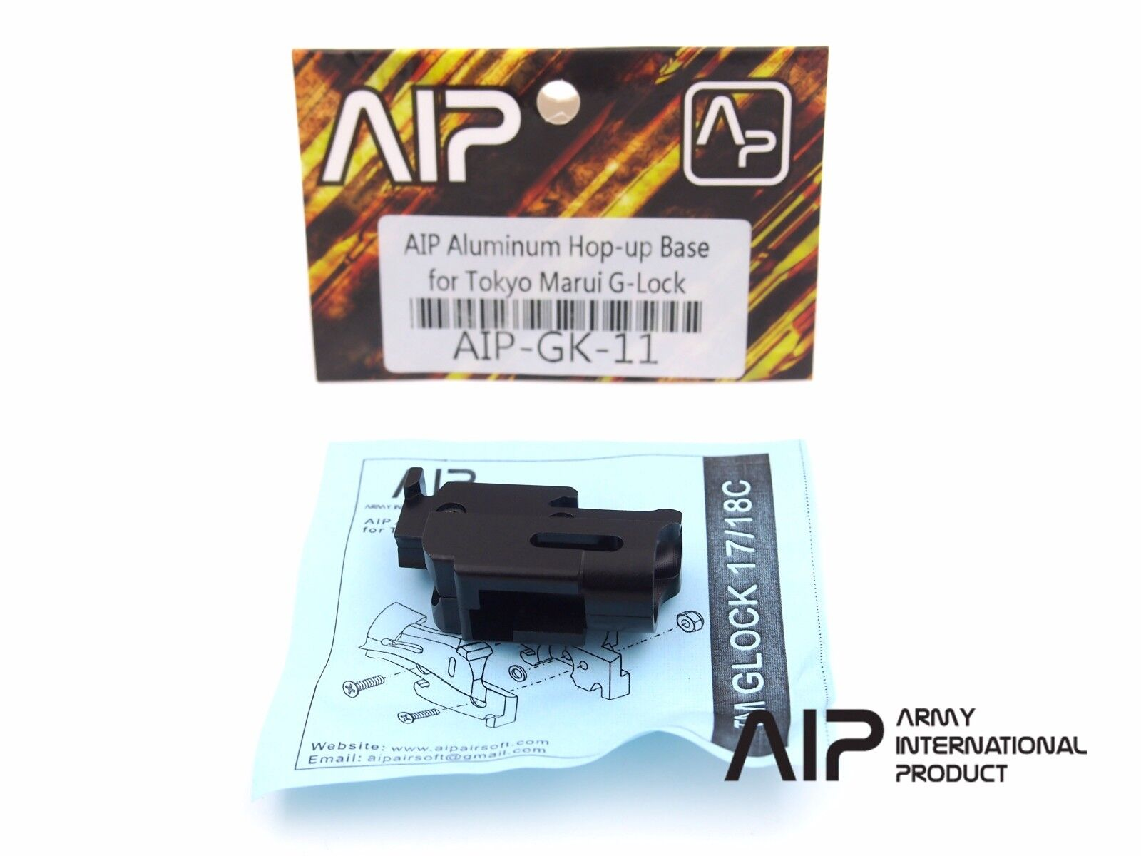 Airsoft AIP Aluminum Hop up Base for Tokyo Marui G17 GBB Softair AIP-GK-11 (663)