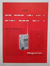 6/1969 PUB MAGNAVOX COMMUNICATIONS AN/URC-64 RESCUE RADIO ORIGINAL AD