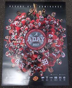 2017 A Day Alabama Crimson Tide Football Schedule Poster Ebay
