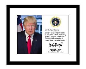Personalized-Donald-Trump-8x10-Signed-Official-Photo-YOUR-NAME-autographed