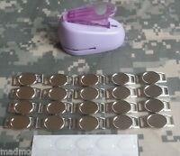 Blank Oval Paracord Charms With Oval Punch Shoelace Charms 20 Charms, 1 Punch.