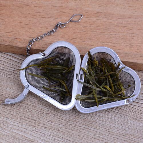 Heart shape stainless steel tea infuser filter strainer mesh tea ball tea toolIJ