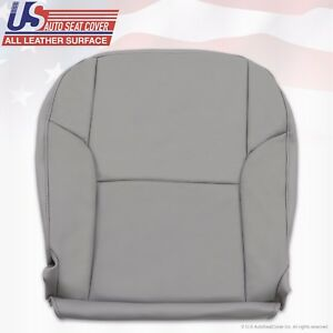 Driver Side Bottom Replacement Leather Seat Cover Gray