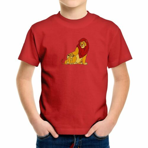 Walt Disney The Lion King Simba and Mufasa Cute Cub Kids Boys Youth Tee T-Shirt