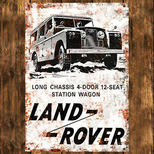 ALUMINIUM-SIGN-200MM-X-285MM-LAND-ROVER-LONG-CHASSIS