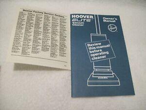 Hoover-Elite-Vacuum-Cleaner-Owner-039-s-Manual-U4457-59-59-940-61-9-63-9-69-81-83