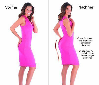 Damen Figur Body  Slip Panties Po push up 3 er-Set Mehrfarbig XL