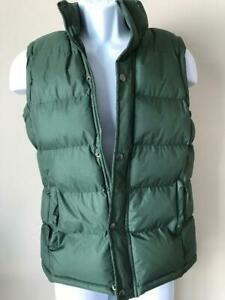 vtg-AVIVA-SPORTS-OLIVE-GREEN-PUFFER-VEST-S-Small-Winter-Good-Condition