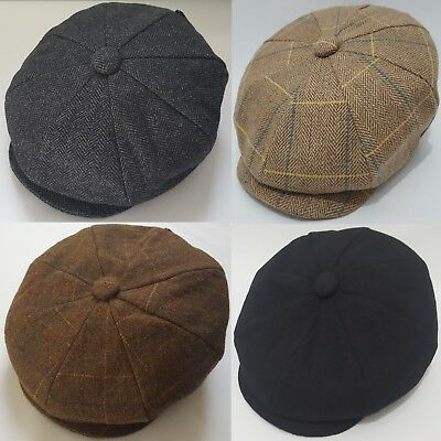 Patraque oeillères Children/'s Newsboy Hat Gatsby Cap Flat Baker Boy Kids Herringbone