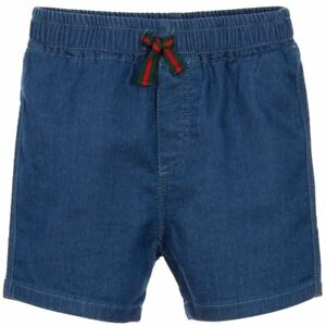 c946c0bfe Image is loading GUCCI-BABY-BOYS-SOFT-DENIM-SHORTS-24-MONTHS