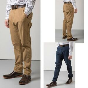 Details about Men's Chinos Rydale Rupert Chino Trousers Navy or Tan