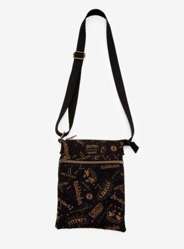Loungefly Harry Potter Expecto Stupefy Wizard Spells Crossbody Bag New