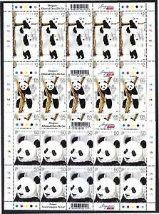 SINGAPORE-2012-GIANT-PANDA-3-X-FULL-SHEET-OF-10-STAMPS-EACH-IN-MINT-MNH-UNUSED