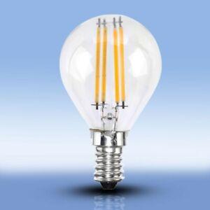 Design-4-Watt-LED-Energie-Spar-Leuchtmittel-Dimmer-Birnen-Form-E14-EEK-A-Alu