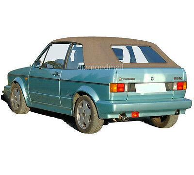 vw volkswagen rabbit cabriolet golf 1980 1994 convertible soft top tan german ebay