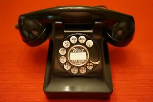 VINTAGE-ORIGINAL-1939-WESTERN-ELECTRIC-302-ALL-METAL-PHONE-PERFECT-CONDITION