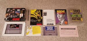 Batman-Returns-Super-Nintendo-SNES-Konami-Complete-CIB-Manual-Box-DC-Comics-Lot