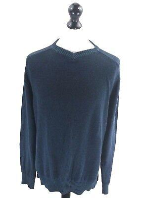Fat Face Mens Jumper Sweater M Medium Navy Blue Cotton Warm Und Winddicht