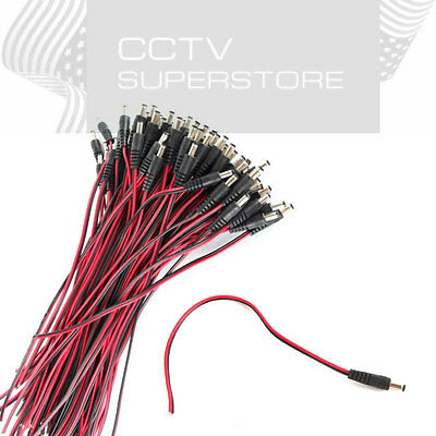 20pcs DC male Lead pigtail for CCTV camera power 2Q3