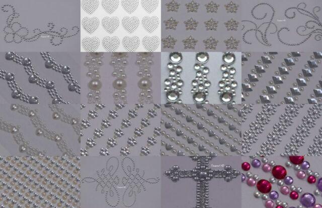 10mm Self Adhesive Heart Diamante Rhinestone Gems Sick on Invitation Craft G10H1