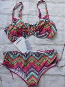 Shop für authentische hohe Qualität neue Produkte für Details zu Olympia Bikini Damen Gr. 42 bis 44 Cup B bunt gemustert NEU (482)