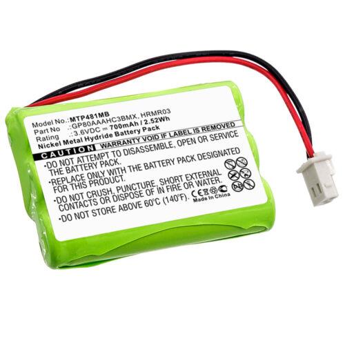 Bateria para motorola gp 80 aaahc 3bmx hrmr 03 700mah