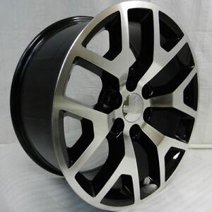4 New 26 Gmc Replica Wheels Black Machined Chevy Silverado Sierra