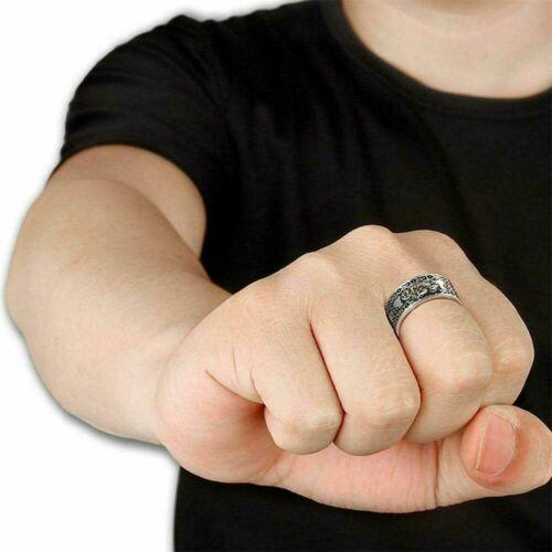 Amulett Unisex Vermögensschutz Einstellbar Lucky Rings Juwel Feng Shui Pixiu.