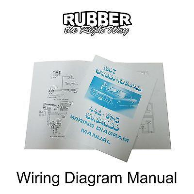 1967 Oldsmobile Wiring Diagram Manual Ebay