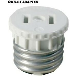 Details About Outlet To Medium Base Light Socket Adapter