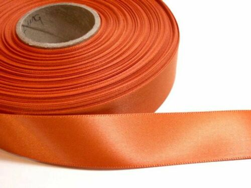 "Burnt Orange Single-Faced Satin Ribbon 7//8/"" wide x 10 yds Offray Burnt Sienna"