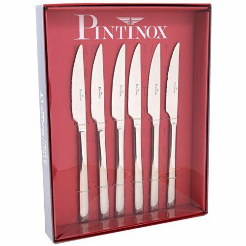PINTINOX coltello da bistecca forgiato onde vetro smerigliato in acciaio inox 18//10 Synthesis