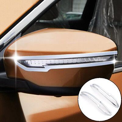 Chrome Door Rearview Mirror Strip Cover Trim For Nissan Qashqai J11 2014-2018