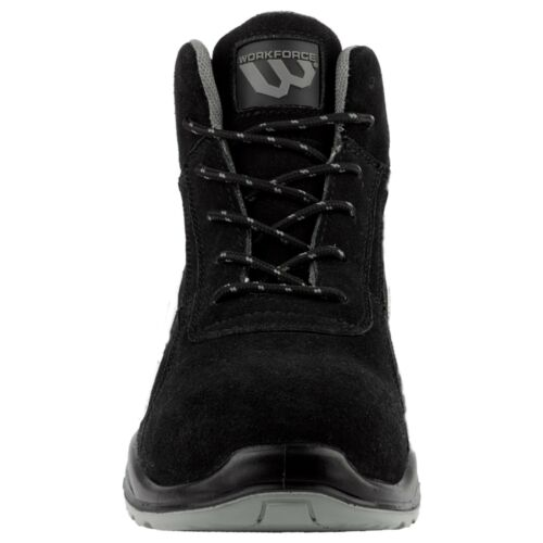 Workforce Steel Toe Cap Black Suede Leather Upper With Grey Trim Safety Boots 33